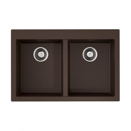 Мойка Omoikiri BOSEN 80-2 DC, темный шоколад
