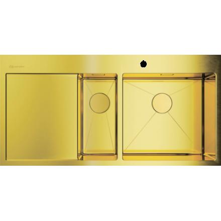 Мойка Omoikiri Akisame 100-2 Lg-R, светлое золото