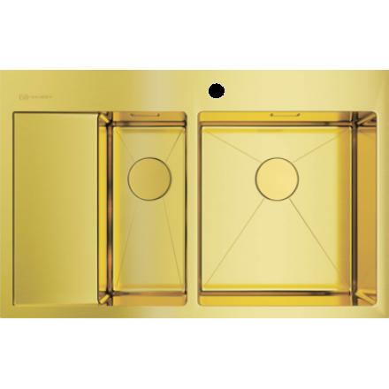 Мойка Omoikiri Akisame 78-2 Lg-R, светлое золото