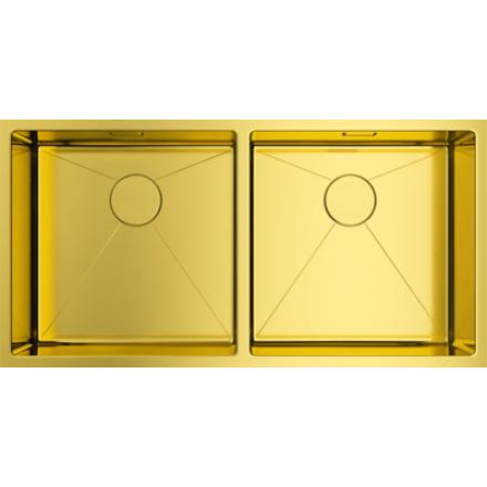 Мойка Omoikiri Taki 86-2-U/If Lg, светлое золото
